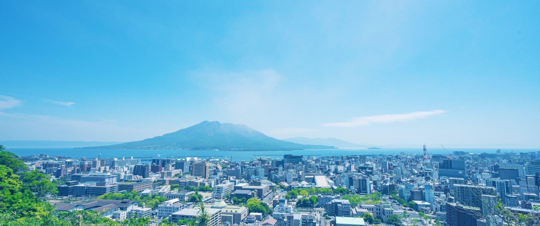 鹿児島市街地の風景